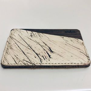 Leather/Wood Card Holder